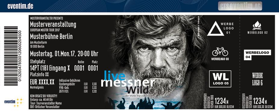 Karten für Reinhold Messner: Wild - Der letzte Trip auf Erden in Bamberg