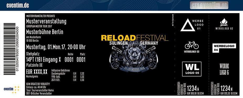 Reload Festival Karten für ihre Events 2018