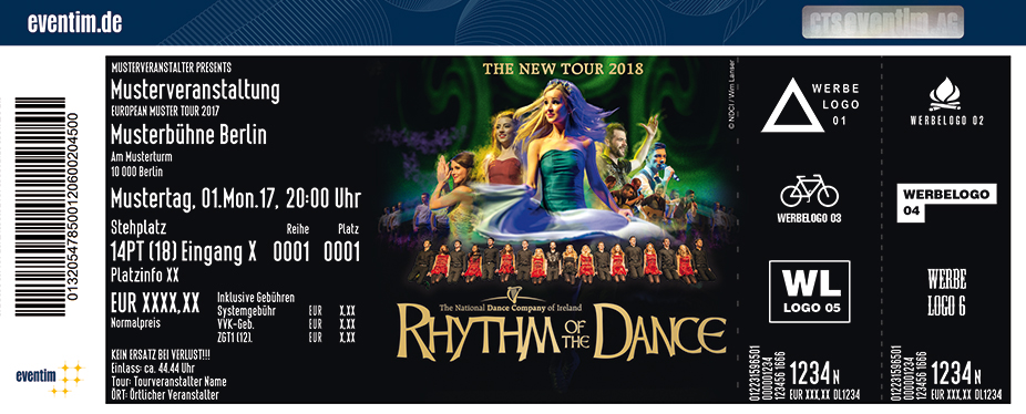 Karten für Rhythm of the Dance - The New Tour 2018 in Reutlingen