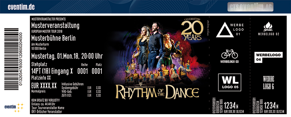 Rhythm Of The Dance Karten für ihre Events 2018