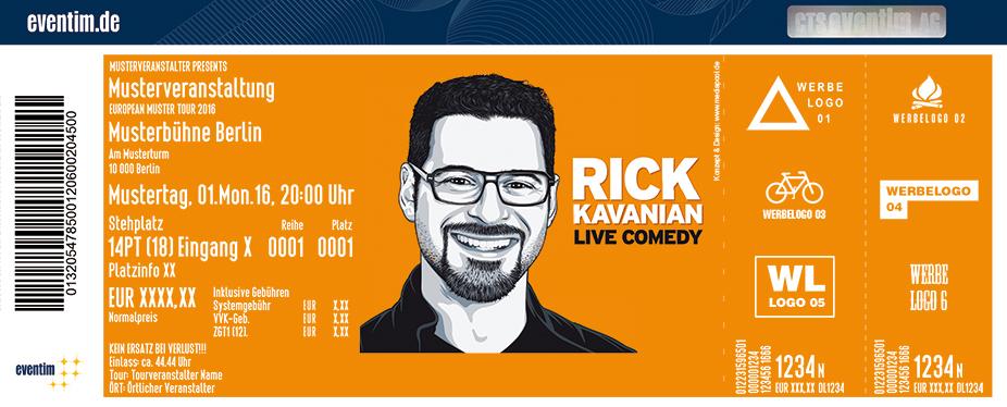 Rick Kavanian Karten für ihre Events 2017
