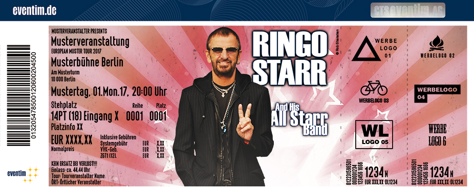 Karten für Ringo Starr & His All Starr Band in Esch Alzette / Luxemburg