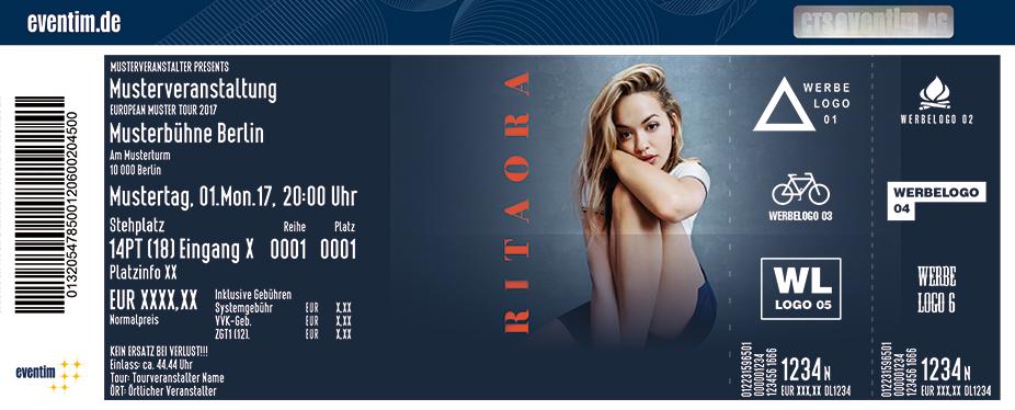 Rita Ora Karten für ihre Events 2017