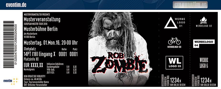 Rob Zombie Karten für ihre Events 2017