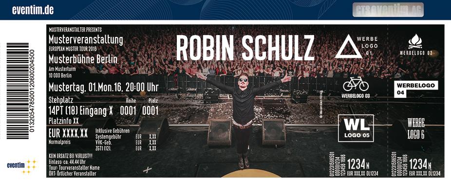 Robin Schulz Karten für ihre Events 2017