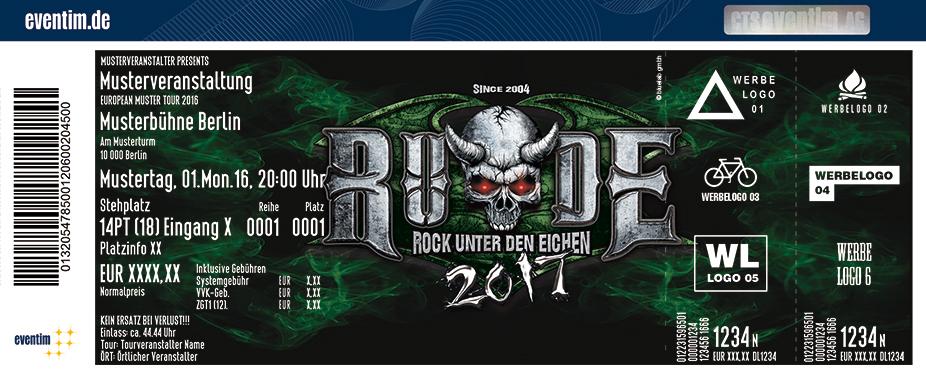 Rock Unter Den Eichen Karten für ihre Events 2017