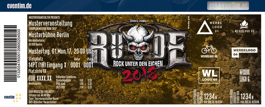 Rock Unter Den Eichen Karten für ihre Events 2018
