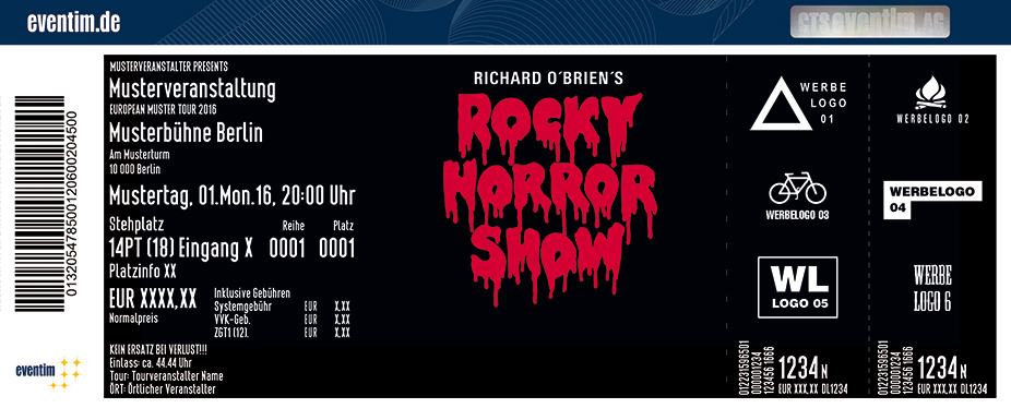 Karten für Richard O'Brien's Rocky Horror Show in Frankfurt / Main