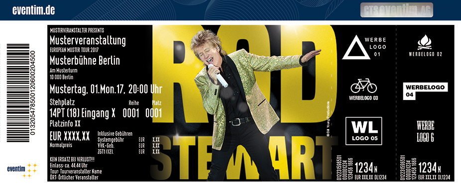 Rod Stewart Karten für ihre Events 2018