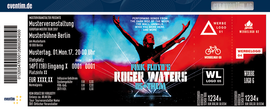 Karten für Roger Waters: Us+Them Tour 2018 in Berlin