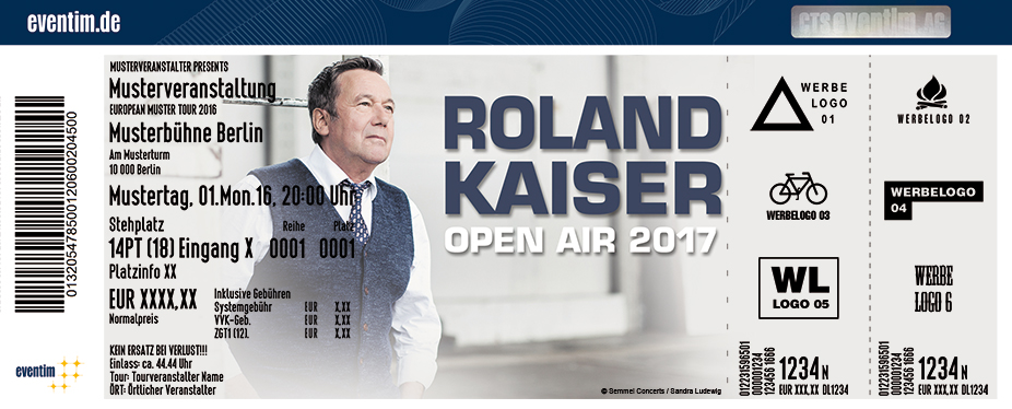 Karten für Roland Kaiser - Open Air 2017 in Hamburg