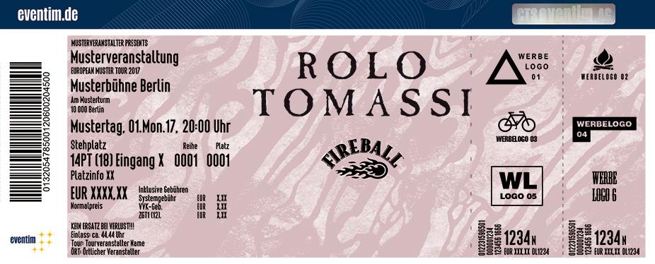 Rolo Tomassi Karten für ihre Events 2018