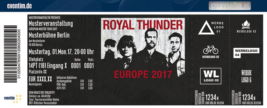 Royal Thunder Karten für ihre Events 2017
