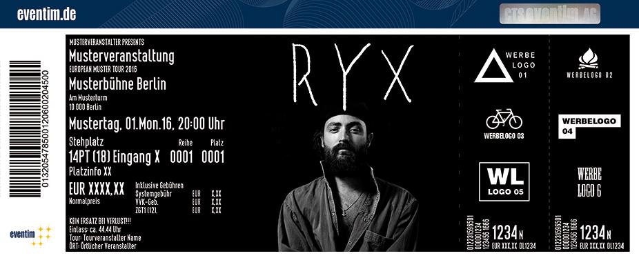 Ry X Karten für ihre Events 2017