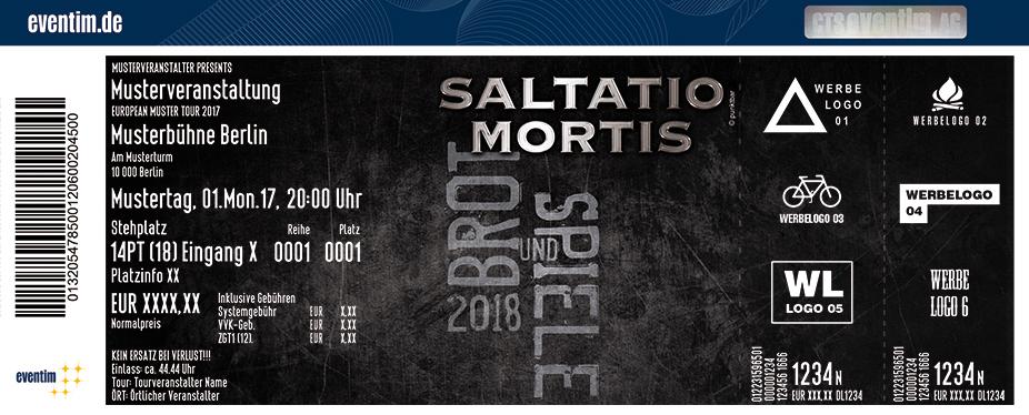 Saltatio Mortis Karten für ihre Events 2018