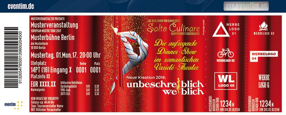 Karten für Elmar Kretz Salto Culinare 2018: Unbeschreiblich Weiblich! in Oberreute