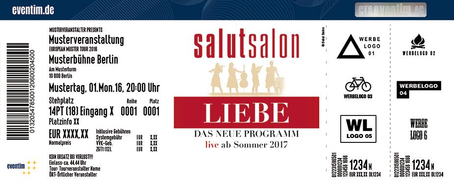 Salut Salon Karten für ihre Events 2017