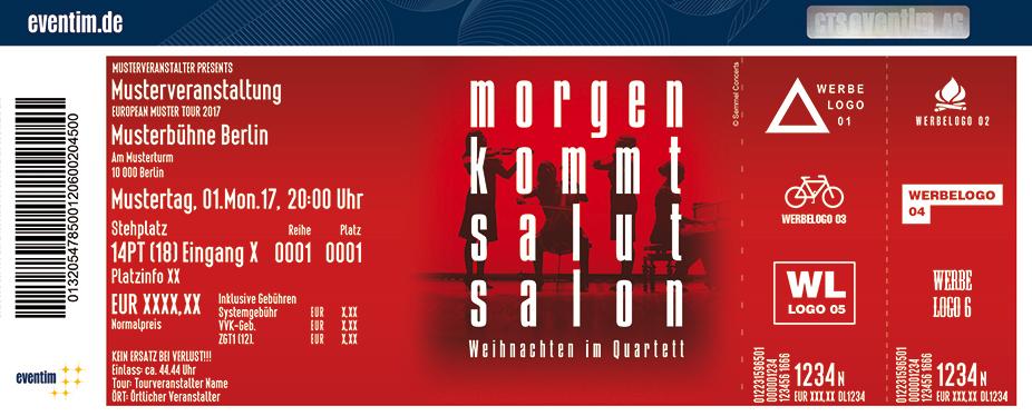 Karten für Salut Salon: Morgen kommt Salut Salon - Weihnachten im Quartett in Halle / Saale