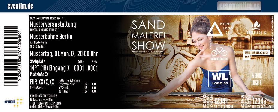 Karten für Sand Malerei Show: Hamburg, die schönste Stadt der Welt - HafenCity Shows in Hamburg