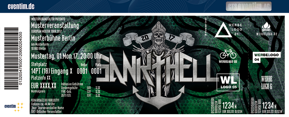 Sankt Hell Karten für ihre Events 2017