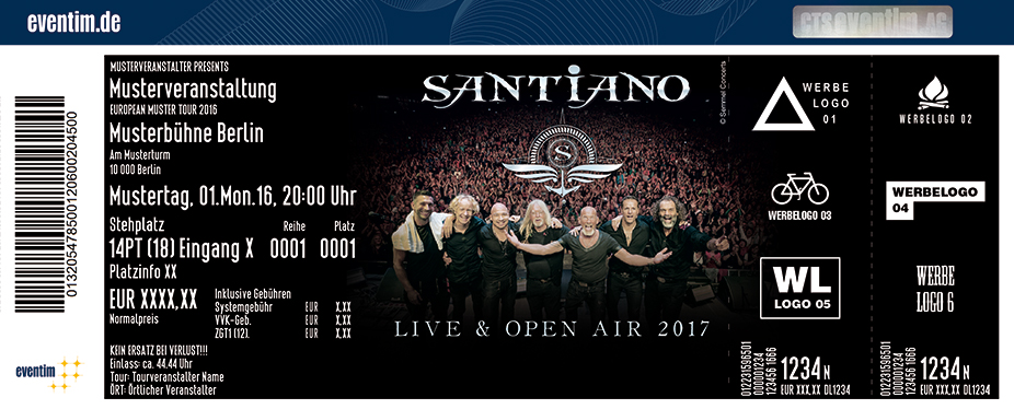 Santiano Karten für ihre Events 2017