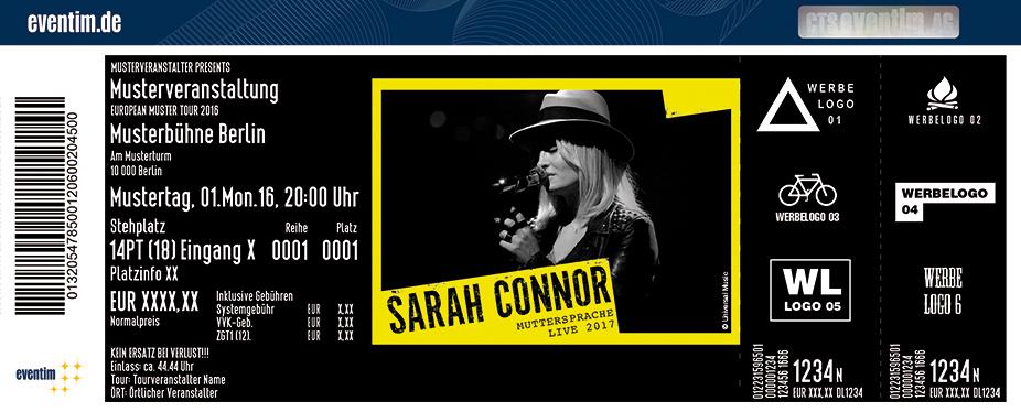 Sarah Connor Karten für ihre Events 2017
