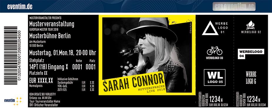 Sarah Connor Karten für ihre Events 2018