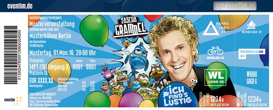 Karten für Sascha Grammel: Ich find´s lustig! 2017 in Esch Alzette / Luxemburg