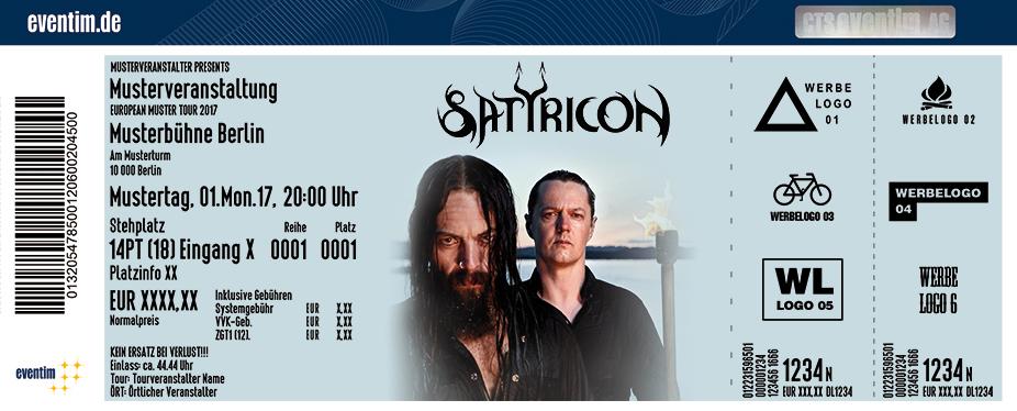 Satyricon Karten für ihre Events 2018