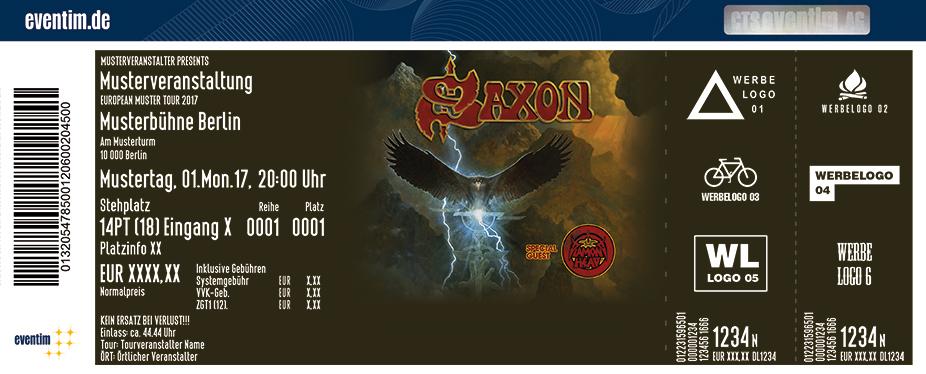 Saxon Karten für ihre Events 2018