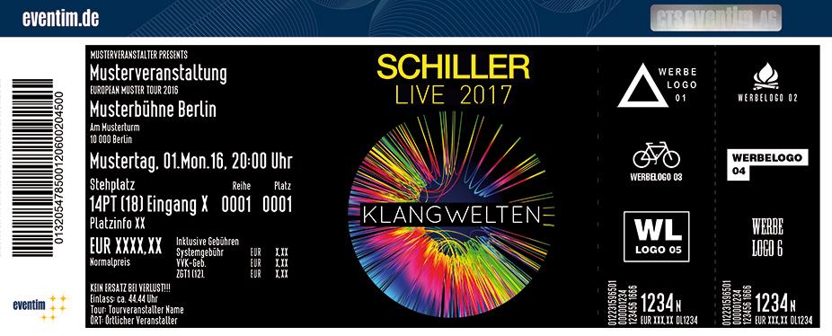 Karten für Schiller: Klangwelten Live 2017 - Elektronik Pur in Worms