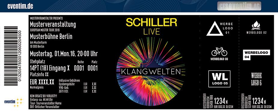 Karten für Schiller: Klangwelten Live 2018 - Elektronik Pur in Wien