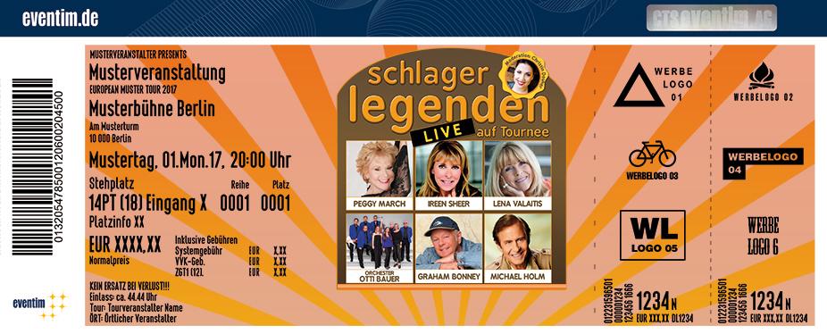 Karten für Schlagerlegenden Live auf Tournee mit dem Orchester Otti Bauer in Marburg