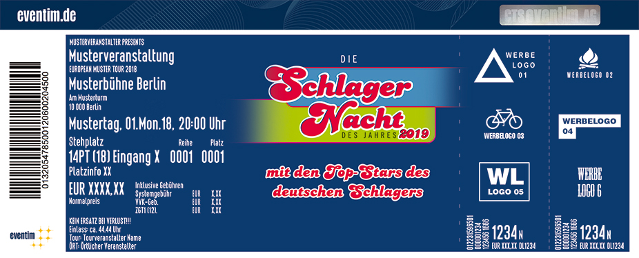 Karten für Die Schlagernacht des Jahres 2019 - Mit den Superstars des deutschen Schlagers in Mannheim