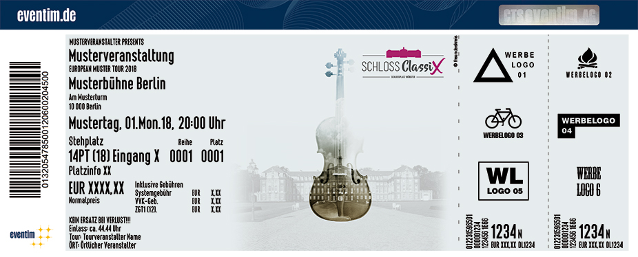 Karten für Schloss Classix 2018 in Münster