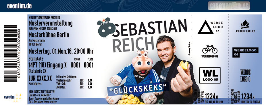 Karten für Sebastian Reich & Amanda: Glückskeks in Grafenrheinfeld