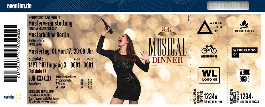 Karten für SEK - Das Musical Dinner in Gera