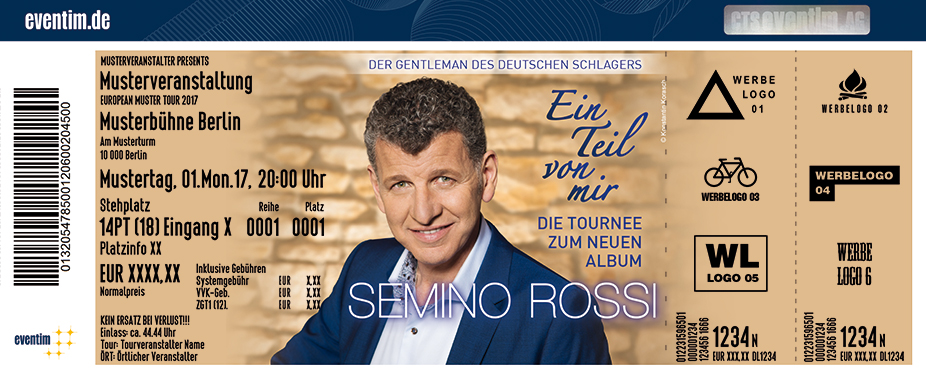 Karten für Semino Rossi – Ein Teil von mir – Die Tournee zum neuen Album in Kassel