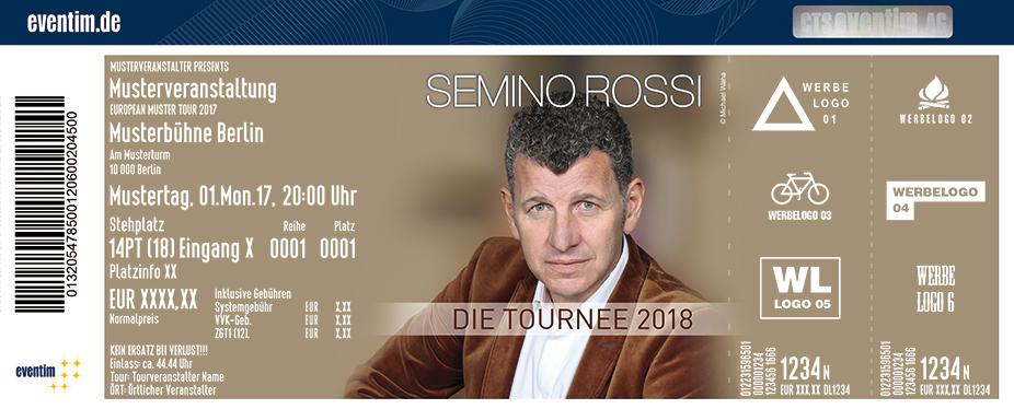 Semino Rossi Karten für ihre Events 2017
