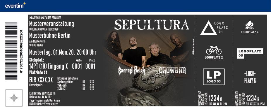 Sepultura - Quadra Tour Europe 2021 feat. Sacred Reich & Crowbar