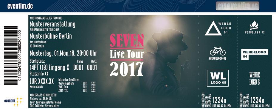 Karten für Seven - Live Tour 2017 in Jena