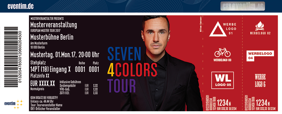 Karten für Seven - 4 Colors Tour in Hannover