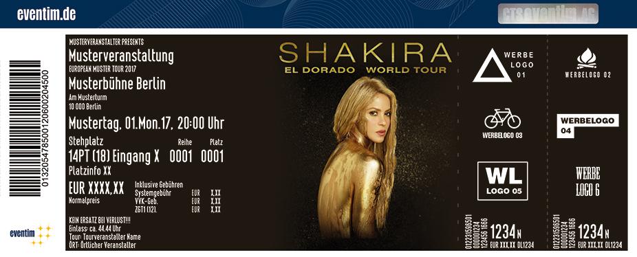 Shakira Karten für ihre Events 2017
