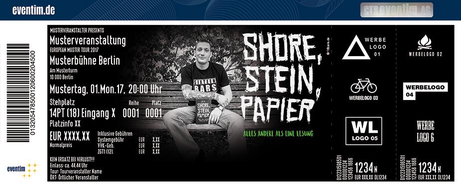 Karten für $ICK: Shore Stein Papier: Alles andere als eine Lesung in Stuttgart