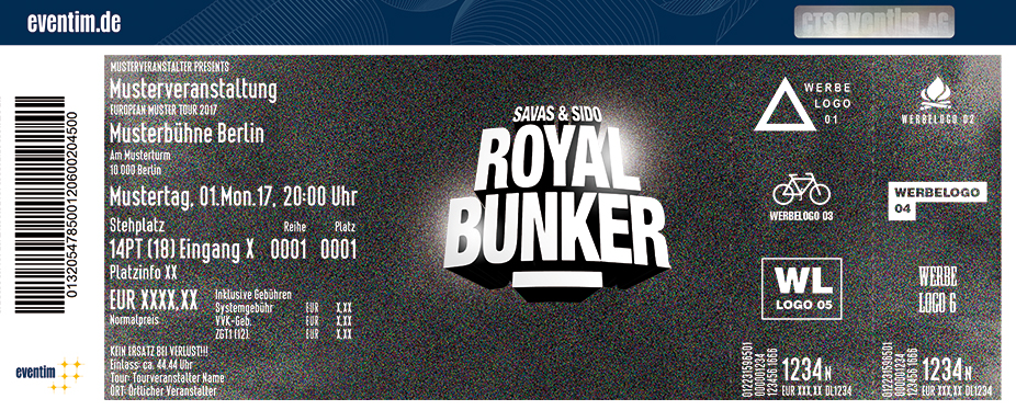 Karten für Savas & Sido: Royal Bunker Tour 2018 in Berlin