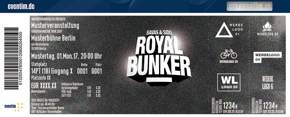 Karten für Savas & Sido: Royal Bunker Tour 2018 in Frankfurt