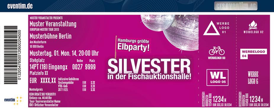 Karten für Silvester - Die Party mit Elbblick in der Altonaer Fischauktionshalle in Hamburg