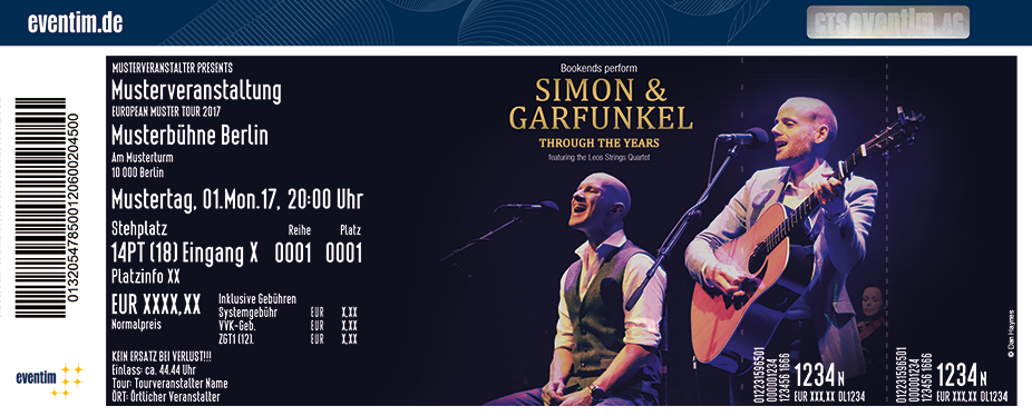 Karten für Bookend and the Leo String Quartet: Simon und Garfunkel - Through the Years - Tribute in Wuppertal