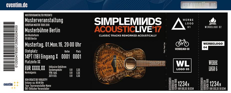 Simple Minds Karten für ihre Events 2017