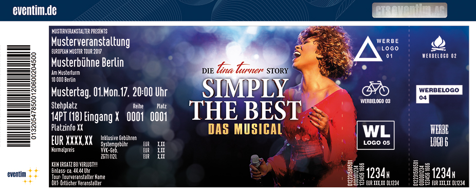 Karten für Simply The Best - Das Musical in Landshut